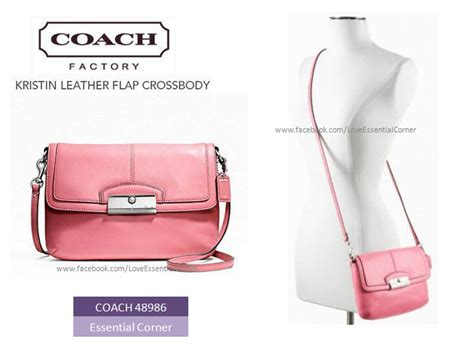 Coach Kristin 2nd Original coach 48986 kristin leather flap crossbody essential corner