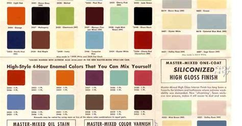 1950s and 60s paint colors from sears classic harmony house collection images