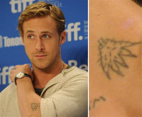 ryan gosling tattoo photos of who tattoos popsugar