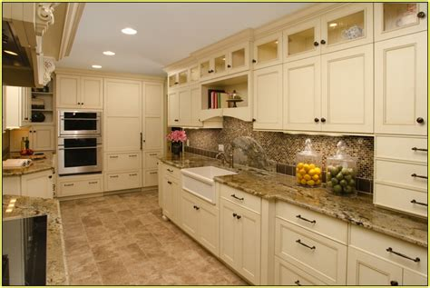 kitchen cabinets with light granite countertops light granite countertops white cabinets home design ideas