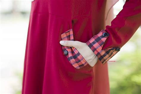 Blouse Naura Tunic blouse zenia maroon 2 saeeda collections