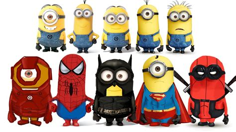 wallpaper minion batman deadpool and spider man wallpapers 77 images