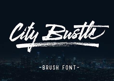 Design Font Brush | city bustle brush font display fonts on creative market