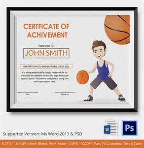 basketball award certificate templates basketball certificate template 14 free word pdf psd
