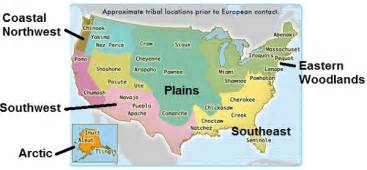 Map Of Native American Tribes In The United States by Native American Cultures Of The United States Mr Mamontoff