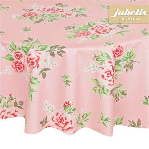 Runde Tischdecken Landhausstil by Jubelis 174 Beschichtete Baumwolle Abwaschbar Rosy Rosa H