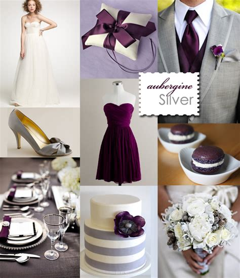eggplant and silver wedding decorations 2012 wedding color palettes visions wedding event boutique