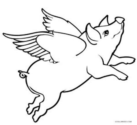 Flying Pig Coloring Pages free printable pig coloring pages for cool2bkids