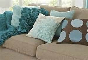 Lovely teal turquoise and brown cushions
