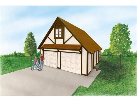 Keilani Garage With Loft Plan 064D 6000   House Plans and More