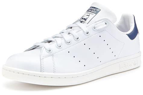 White Original adidas originals stan smith trainers white navy blue m20325 ebay