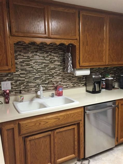vinyl tile backsplash using vinyl smart tiles to update my kitchen hometalk
