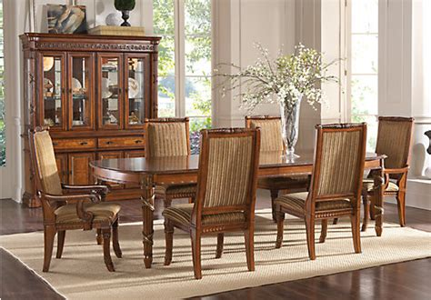pecan wood furniture dining room chlain pecan 5 pc dining room dining room sets wood