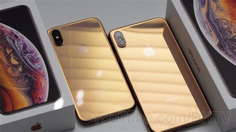 gold iphone xs and iphone xs max unboxing boot comparison and accessories