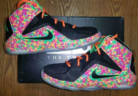 fruity pebbles basketball shoes nike lebron 12 basketball shoes 2y fruity