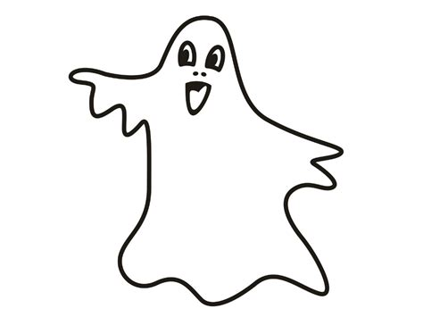 Free Coloring Pages Of Ghost Outline Ghost Color Page