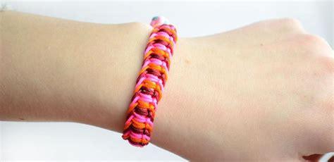 Flat Macrame Bracelet - flat macrame friendship bracelet family crafts