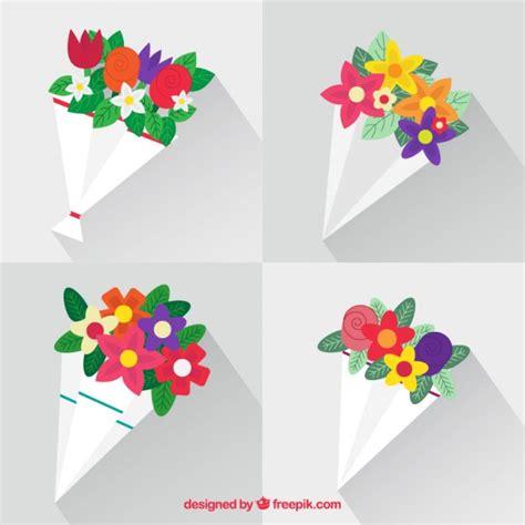 foto di mazzi di fiori bellissimi bellissimi mazzi di fiori in design piatto scaricare