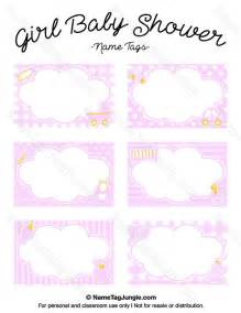 baby shower labels template free printable baby shower name tags the template