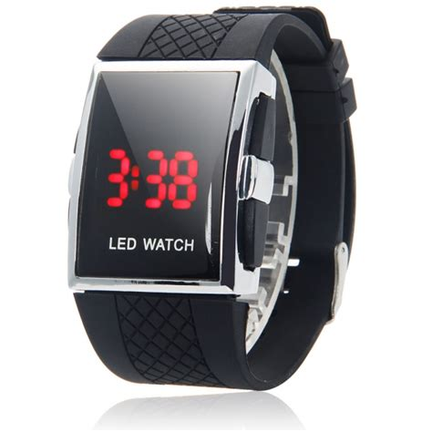black men women date digital sport led wrist watch