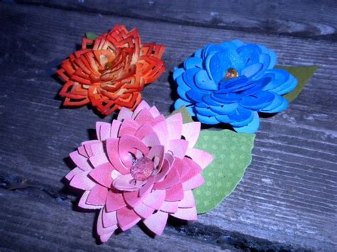paper punch flower tutorial ek success flower punches to make dimensional flowers