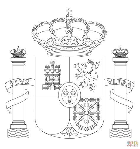 Coloriage Armoiries De L Espagne Coloriages 224 Imprimer Fiche Coloriage Drapeau Espagnol Pays EspagneL