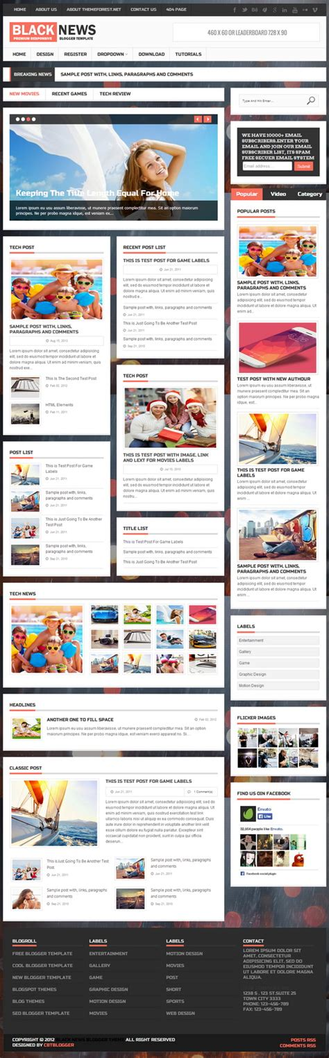 templates blogger premium blacknews blogger template blogger templates 2018