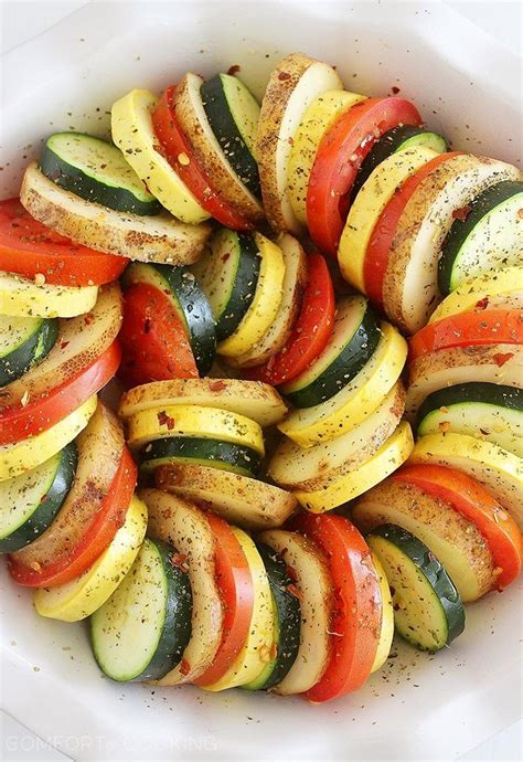 m s layered vegetables parmesan vegetable tian