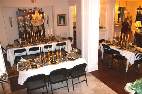 Home Decor With Wine Bottles by Gold Black And White My 30th Birthday Dinner Party