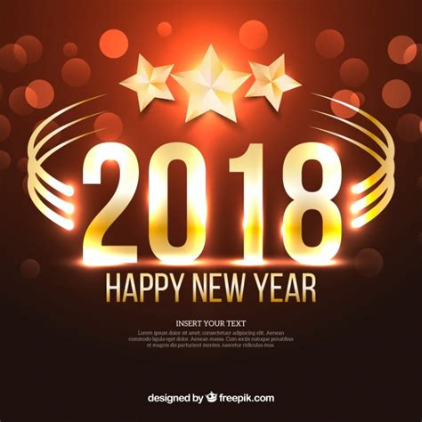 new year design 2018 new year 2018 background with vector free