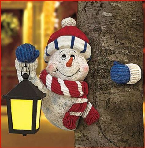 how to make a snowman tree hugger attractive home decoratives home designing