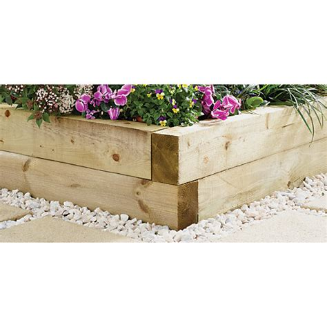 Travis Perkins Sleepers by Wickes Garden Sleeper 100 X 150mm X 1 8m Light Green
