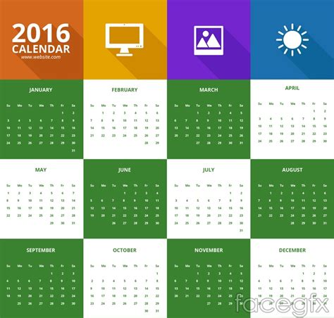 design calendar for 2016 15 best calendar 2016 vector templates designmaz