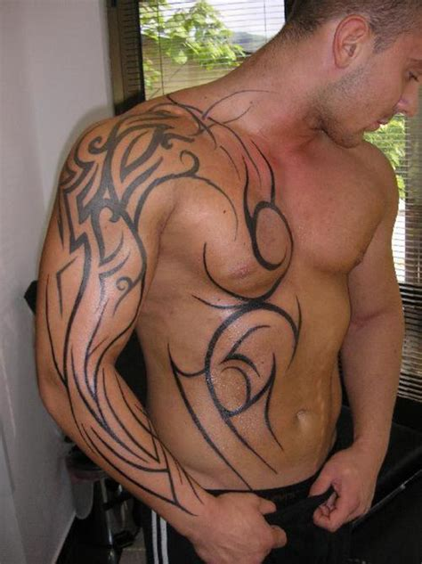 tribal shoulder chest tattoos all about fashion tribal tattoos for