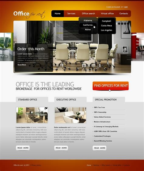 Office Website Template 33889 Office Website Templates