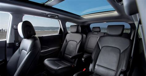 Hyundai Inside 2017 Hyundai Sante Fe Rear Interior Photos Gallery