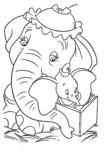 free walt disney animal dumbo elephant coloring pages