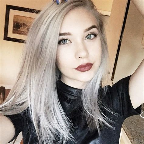 silver blonde hair color pictures amanda steele makeupbymandy24 new hair youtubers