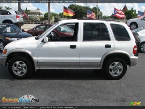 2000 kia sportage ex 2000 kia sportage ex white gray photo 5 dealerrevs