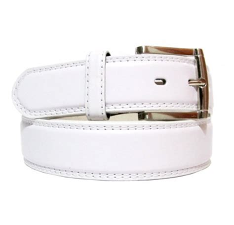 desico white leather belt leather4sure leather belts