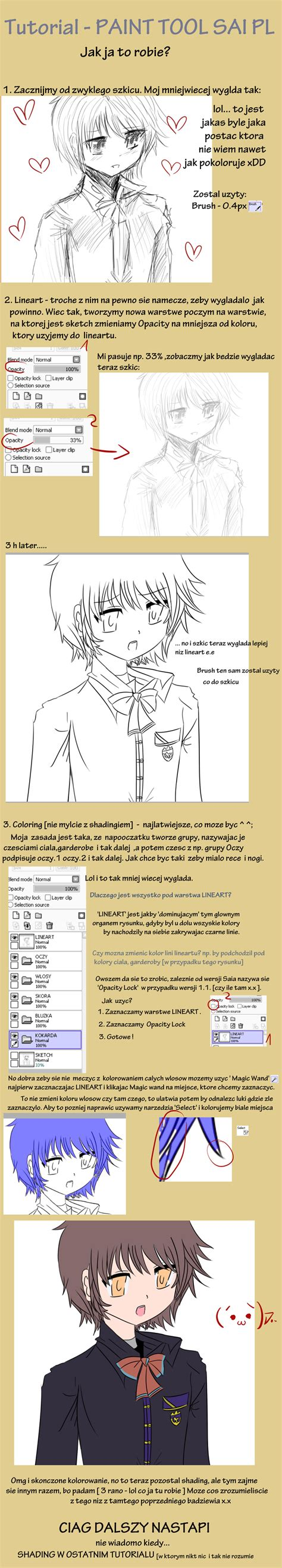 paint tool sai tutorial pl v2 lineart and color by toushiirou on deviantart