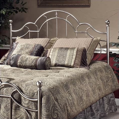 silver headboard full hillsdale mableton metal headboard in brushed silver