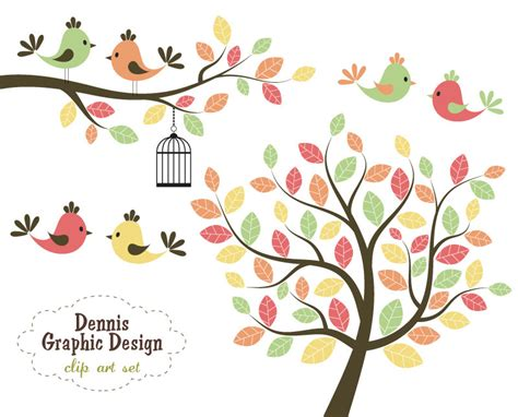 sweet bird and tree clipart set with cute little owl pretty clipart cute tree pencil and in color pretty
