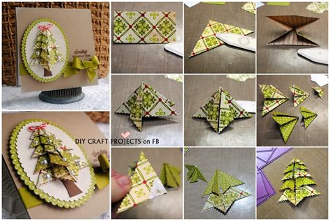 tree card origami tree card diy craft projects