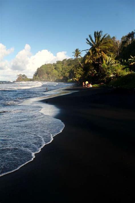 black beaches black sand beach paradis