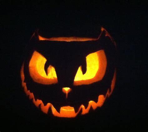 cat pumpkin 24 spooky pumpkin carving ideas entertainmentmesh