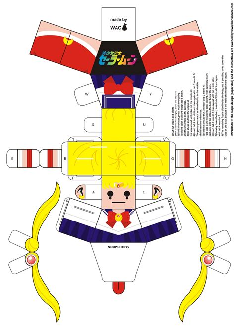 Papercraft Dolls - sailor moon paper doll by willianac jpg