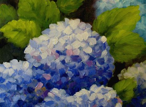 nel s everyday painting triple hydrangeas and a lesson sold nel s everyday painting hydrangea quick sketch