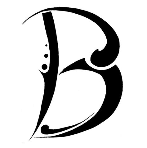 letter b by tonfish on deviantart