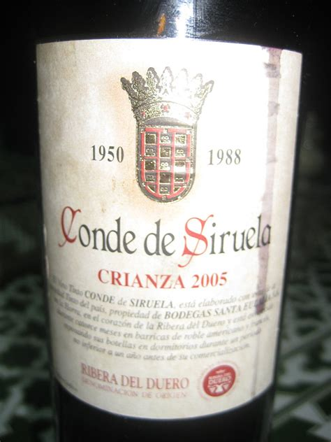 Happy Hour Legaris Crianza Ribera Duero 2003 by Happy Hour Conde De Siruela Crianza Popsugar Food